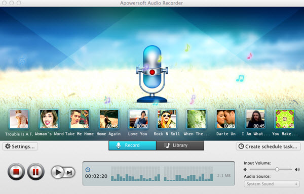 Apowersoft Audio Recorder for Mac Screenshot