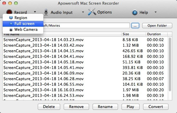 Apowersoft Mac Screen Recorder Screenshot