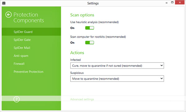 Dr.Web Anti-virus Screenshot