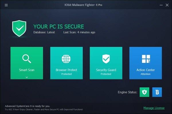 IObit Malware Fighter 4 Pro Screenshot