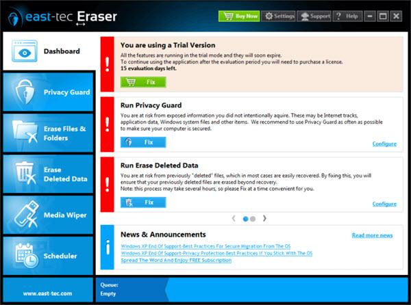 east-tec Eraser Screenshot