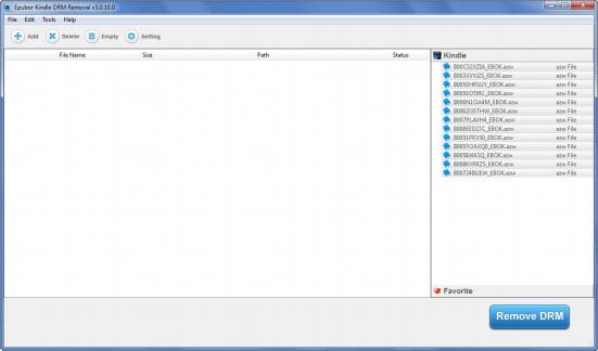 Epubor Kindle DRM Removal Screenshot