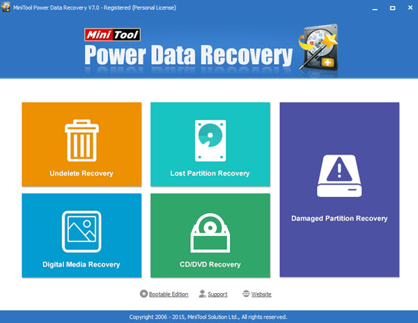 MiniTool Power Data Recovery Personal Edition Screenshot