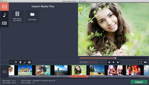 Movavi Video Editor for Mac Screenshot
