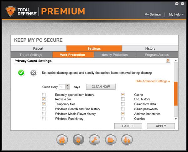 Total Defense Premium Internet Security Screenshot