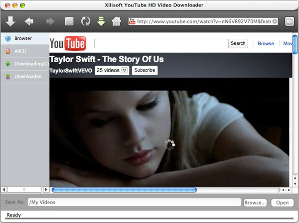 Xilisoft YouTube HD Video Downloader for Mac Screenshot