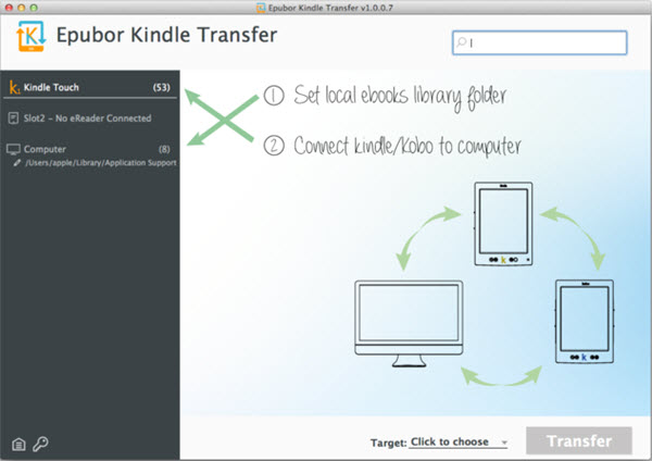 Epubor Kindle Transfer for Mac Screenshot