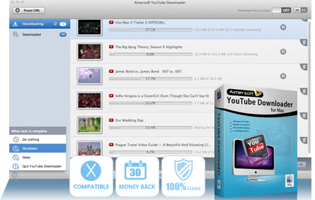 Aimersoft YouTube Downloader for Mac Screenshot