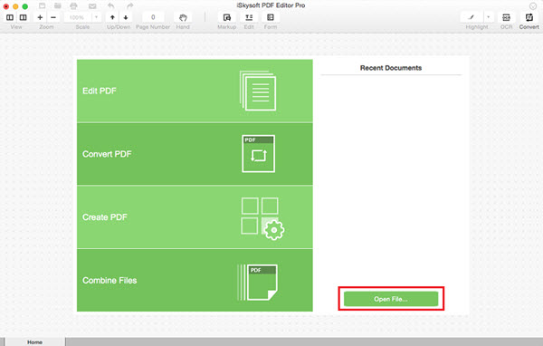 iSkysoft PDF Editor Pro for Mac Screenshot