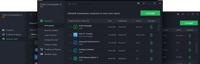 IObit Uninstaller 6 Pro Screenshot